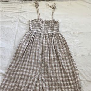 Aerie Smocked buttons down dress